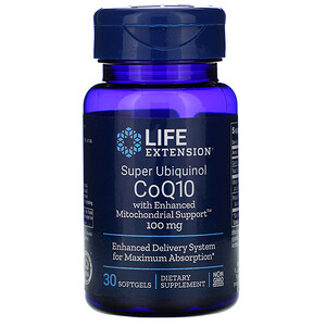 Лайф Экстэншн, Super Ubiquinol CoQ10 with Enhanced Mitochondrial Support, 100 mg, 30 Softgels отзывы покупателей
