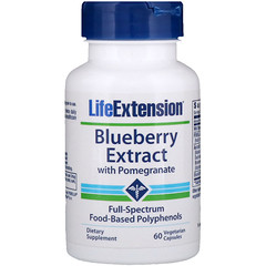 Life Extension, Blueberry Extract with Pomegranate, 60 Vegetarian Capsules