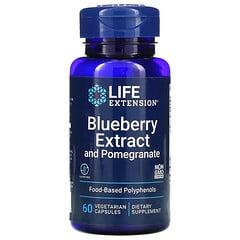 Life Extension, 藍莓提取物和石榴,60 粒素食膠囊