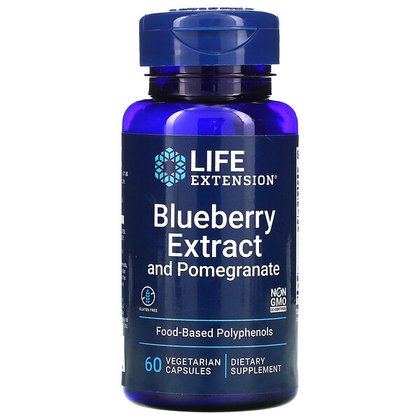 Blueberry Extract and Pomegranate, 60 Vegetarian Capsules