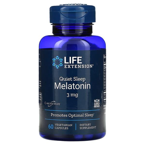 Quiet Sleep Melatonin, 3 mg, 60 Vegetarian Capsule