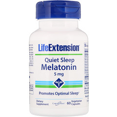 Life Extension, Quiet Sleep, Melatonin, 5 mg, 60 Vegetarian Capsules