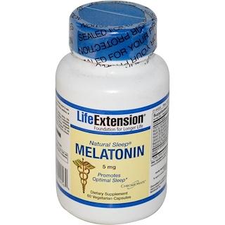 Life Extension, Natural Sleep, Melatonin, 5 mg, 60 Veggie Caps