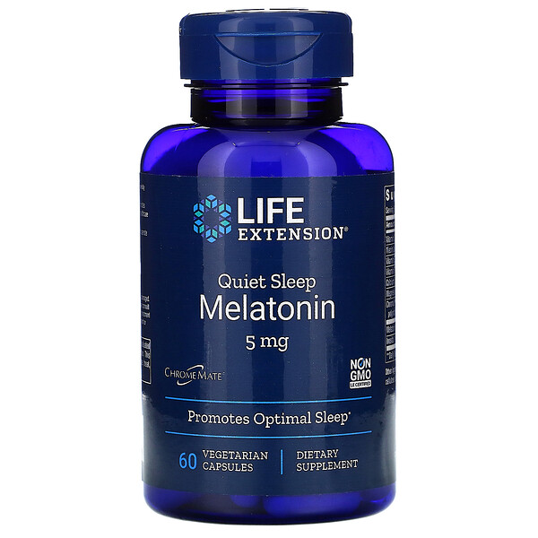 Quiet Sleep, Melatonin, 5 mg, 60 Vegetarian Capsules