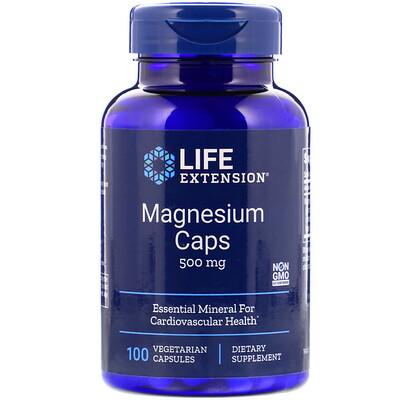 Магниевые капсулы, 500 мг, 100 вегетарианских капсул капсулы с растворимыми волокнами 625 мг 180 капсул