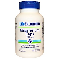 Life Extension, Magnesium Caps, 500 mg, 100 베지캡