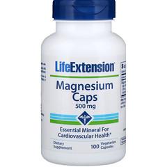 Life Extension, Capsules de magnésium, 500 mg, 100 capsules végétariennes