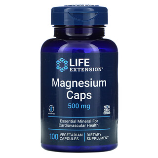 Life Extension, Magnesium Caps, 500 mg, 100 Vegetarian Capsules