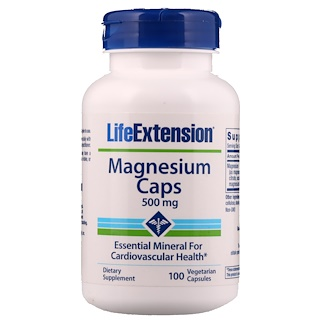 Life Extension, Magnesium Caps, 500 mg, 100 Veggie Caps