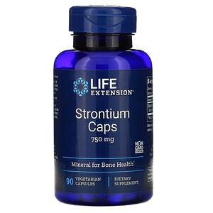 Лайф Экстэншн, Strontium Caps, Mineral for Bone Health, 750 mg, 90 Vegetarian Capsules отзывы покупателей