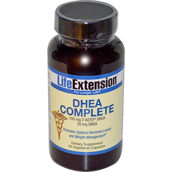 Life Extension, DHEA Complete, 60 Cápsulas Vegetarianas