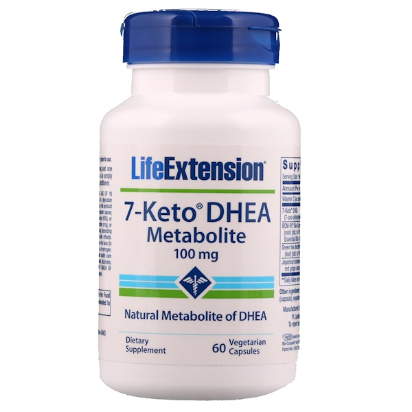 Life Extension, 7-Keto DHEA, Metabolito, 100 mg, 60 Cápsulas Vegetales