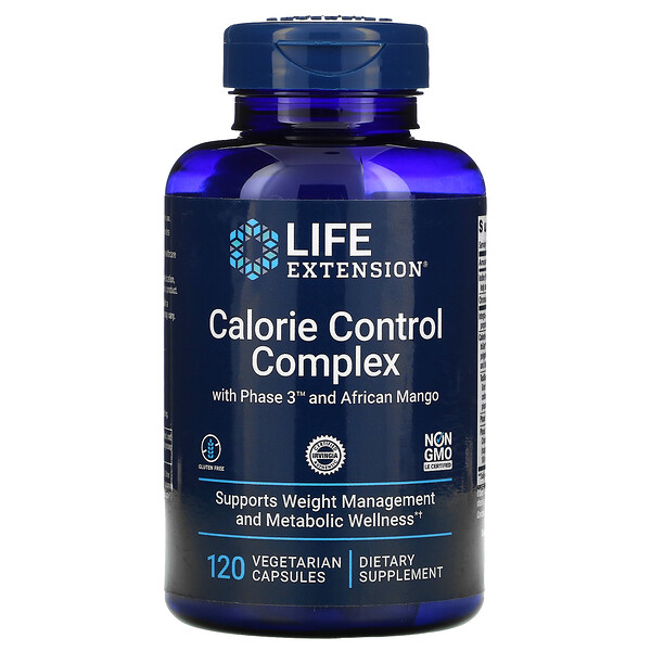 Calorie Control Complex with Phase 3 and African Mango, 120 Vegetarian Capsules