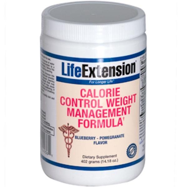 Life Extension, Calorie Control Weight Management Formula, Blueberry - Pomegranate Flavor, 14.18 oz (402 g) (Discontinued Item)