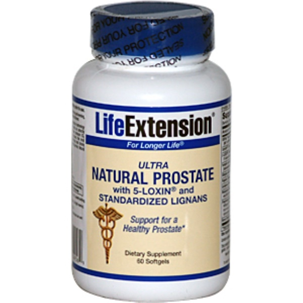 Life Extension, Ultra Natural Prostate with 5-Loxin and Standardized Lignans, 60 Softgels (Discontinued Item)
