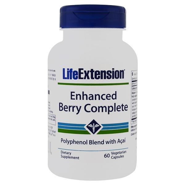 Life Extension, 인핸스드 베리 컴플리트, with 아사이, 60 베지 캡