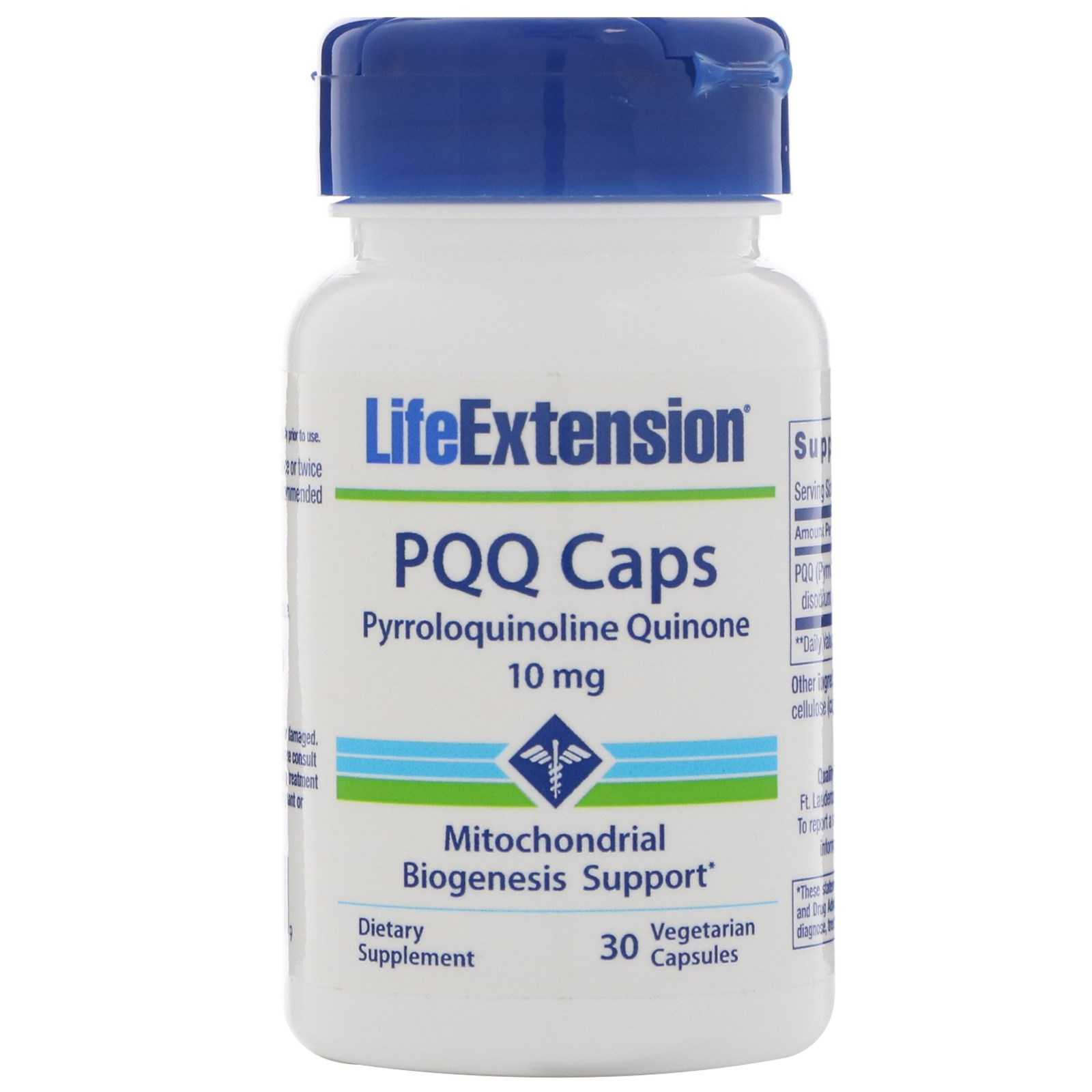 Life Extension, Капсулы PQQ, 10 мг, 30 вегетарианских капсул