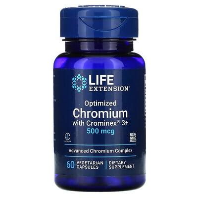 Life Extension Optimized Chromium with Crominex 3+, 500 mcg, 60 Vegetarian Capsules