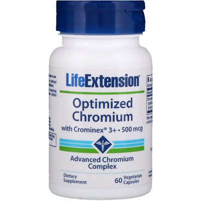 Optimized Chromium with Crominex 3+, 500 mcg, 60 Vegetarian Capsules