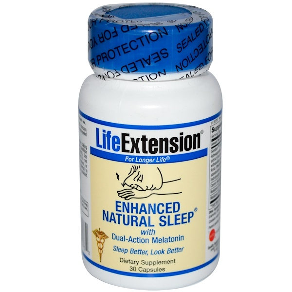 Life Extension, Enhanced Natural Sleep, With Dual-Action Melatonin, 30 Capsules (Discontinued Item)
