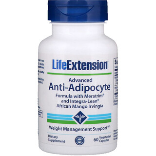 Life Extension, Advanced Anti-Adipocyte Formula with Meratrim and Integra-Lean African Mango Irvingia, 60 Vegetarian Capsules
