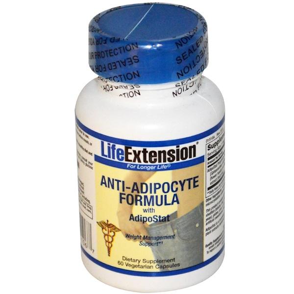 Life Extension, Anti-Adipocyte Formula, with AdipoStat, 60 Veggie Caps (Discontinued Item)