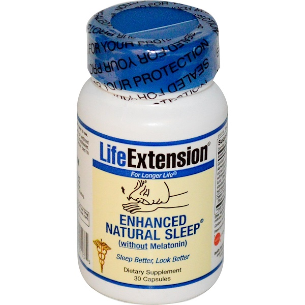 Life Extension, 增強自然睡眠,不含褪黑激素, 30粒膠囊