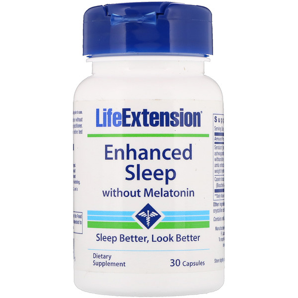 Life Extension, Enhanced Sleep without Melatonin, 30 Capsules