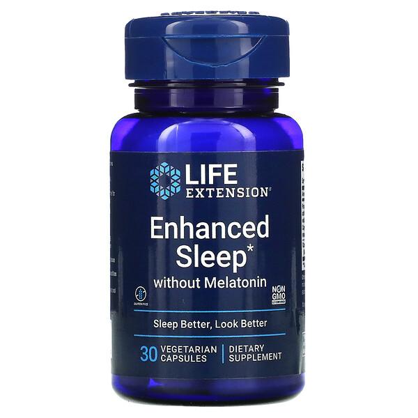Life Extension, Enhanced Sleep without Melatonin, 30 Vegetarian Capsules (Discontinued Item)