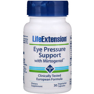 Life Extension, Eye Pressure Support с миртогенолом, 30 вегетарианских капсул