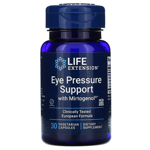 Eye Pressure Support with Mirtogenol, 30 Vegetarian Capsules