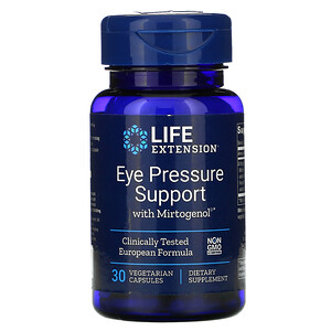 Лайф Экстэншн, Eye Pressure Support with Mirtogenol, 30 Vegetarian Capsules отзывы покупателей