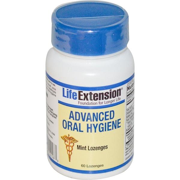 Life Extension, Передовая гигиена полости рта, 60 мятных пастилок для рассасывания (Discontinued Item)