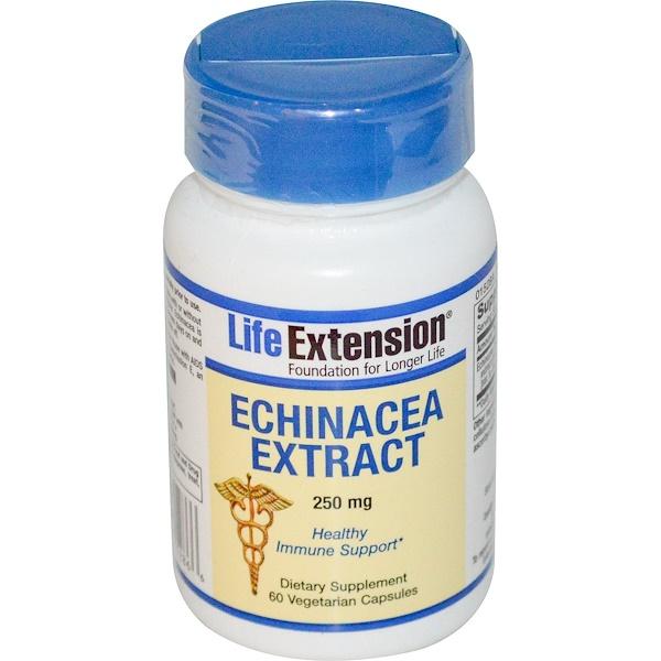 Life Extension, Экстракт эхинацеи 60 овощных капсул (Discontinued Item)