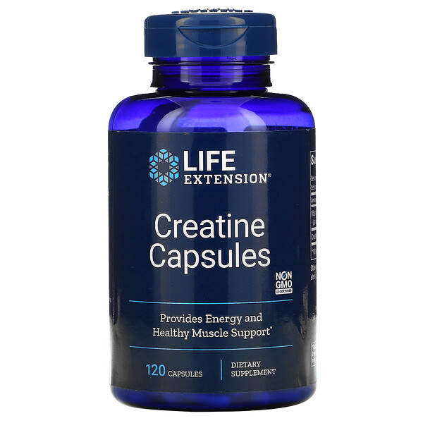 Life Extension, Creatine Capsules, 120 Capsules