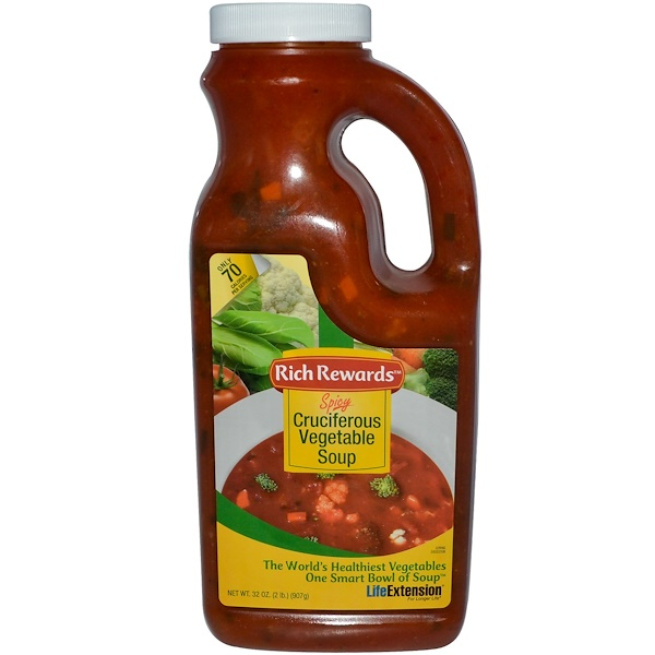 Life Extension, Spicy Cruciferous Vegetable Soup, 32 oz (907 g) (Discontinued Item)