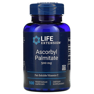 Life Extension, Ascorbyl Palmitate, 500 mg, 100 Vegetarian Capsules