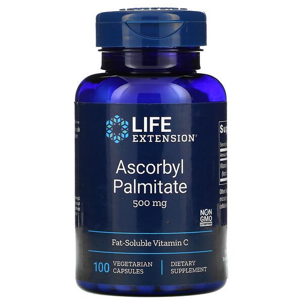 抗壞血酸棕櫚酸酯素食膠囊,500 毫克,100 粒裝