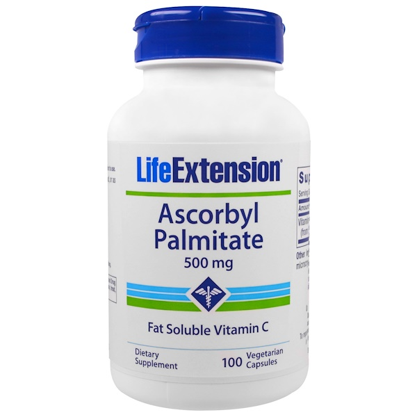 Life Extension, Ascorbyl Palmitate, 500 mg, 100 Veggie Caps