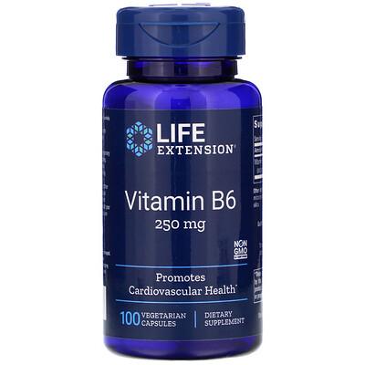 Купить Витамин В6, 250 мг, 100 вегетарианских капсул