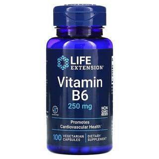 Life Extension, Vitamin B6, 250mg, 100pflanzliche Kapseln