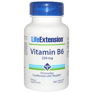 Life Extension, Vitamin B6, 250 mg, 100 Veggie Caps