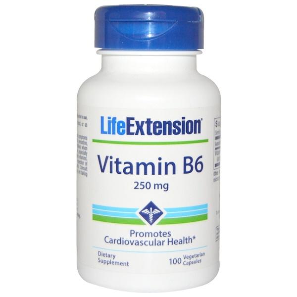Life Extension, Vitamin B6, 250 mg, 100 Veggie Caps