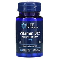 Life Extension, 甲基鈷胺素素食含片,1 毫克,60 片裝