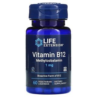 Life Extension, Vitamin B12 Methylcobalamin, 1 mg, 60 Vegetarian Lozenges