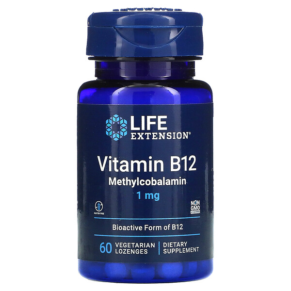 Vitamin B12 Methylcobalamin, 1 mg, 60 Vegetarian Lozenges