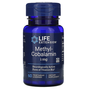 Лайф Экстэншн, Methylcobalamin, 1 mg, 60 Vegetarian Lozenges отзывы