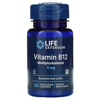 Life Extension, Vitamin B12 Methylcobalamin, 5 mg, 60 Vegetarian Lozenges