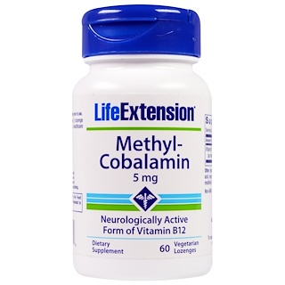 Life Extension, Methyl-Cobalamin, 5 mg, 60 Vegetarian Lozenges