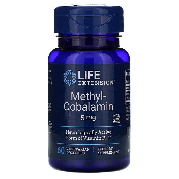 Life Extension, Methylcobalamin, 5 mg, 60 Vegetarian Lozenges